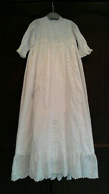 Vintage baby christening gown+ Petticoat Long 20s Lots Of Embroidery NOW REDUCED