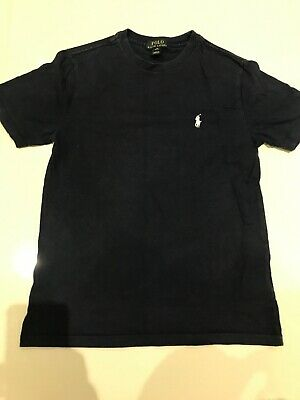 Polo Ralph Lauren Dark Blue Crew Neck T Shirt M (10-12) Polo T Shirt