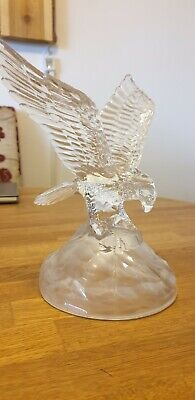 Crystal Glass Bald Eagle 22cm high Statue Figure Collectable Fish Waterford?