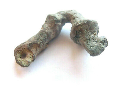 IRON AGE Hallstatt Culture ANCIENT Celtic Bronze Amulet / Talisman - DRAGON HEAD