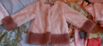 Next Fur Coat Age 6 Years Pink Fur Coat