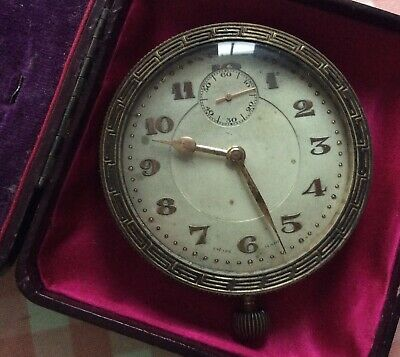 1910-30s Swiss made Collectible car clock