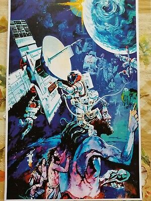 EPCOT Spaceship Earth Mural Attraction Poster Print 11x17