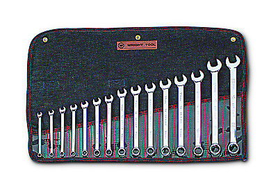 Wright Tool WRIGHTGRIP® 2.0 12 Point Combination Wrench Set 15 Piece Metric 952
