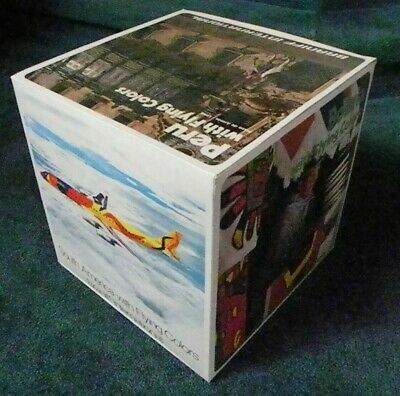 """Rare 1970's Calder """"Flying Colors"""" Texas Braniff Airlines Poster Cube Display"""