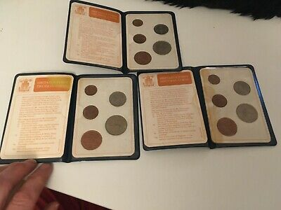 3 Britian FIRST Decimal Coin Set Presentation Collection Uncirculated 1971-1968