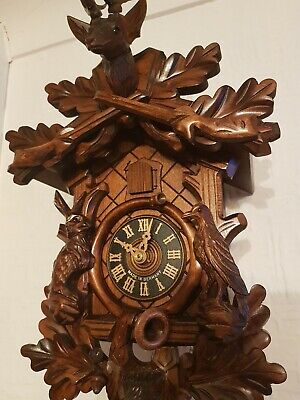 STUNNING  GERMAN  CUCKOO CLOCK /Fully serviced !! /Very  clean/switch off