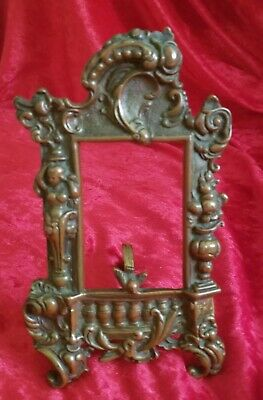Antique French Ornate Art Nouveau Style Bronze Frame