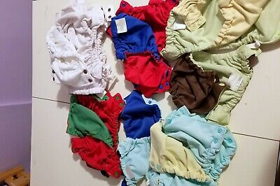 Large Lot-Sprout Change Cloth Diaper Reversible Shells, Inserts, and Wipes