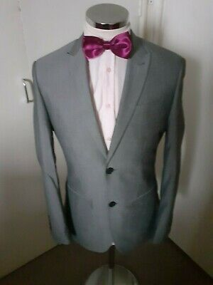 "NEXT Men's Grey Suit Jacket Chest 36"" Regular Drop & Fit Poly/Visc rrp £52 NEW"