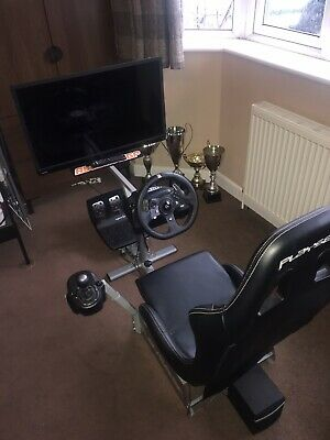 Racing Simulator Xbox, Pc, Race Cockpit, Gear Stick, Steering Wheel, Tv