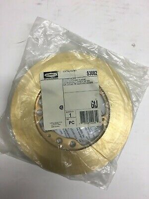 Hubbell S3082 Brass Carpet Flange NEW Kellems New has tile gasket Raco 6235 EQVL