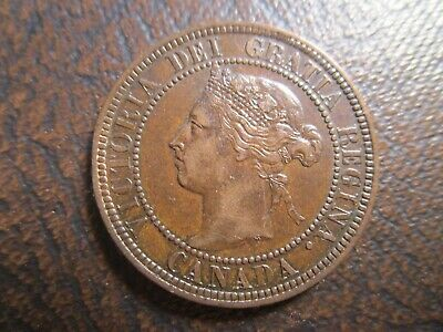 1900-H Canada Large Cent XF-AU With A Hint of Mint Red WE COMBINE ON SHIPPING