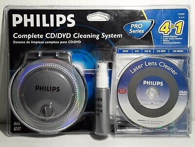 Philips All You Need To Clean CD DVD 4 In 1 Complete Cleaning System Sealed New