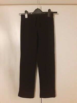 Girls Basic Black Tracksuit Bottoms Joggers Age 8-9 Worn Once