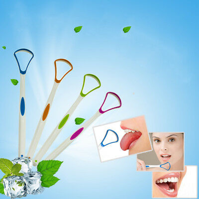 Tongue scraper oral dental care plastic tongue cleaner brush tool for oral care.