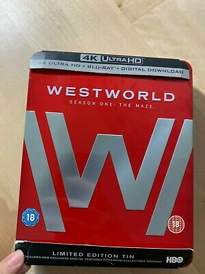 WESTWORLD: SEASON ONE THE MAZE  Limited Edition Tin Steelcase *NO DISC*