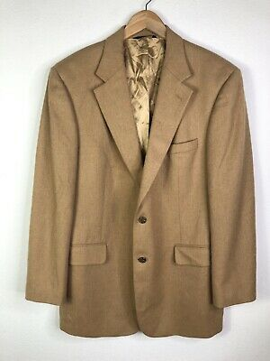Brooks Brothers 100% Camel Hair Tan Suit Jacket Blazer Mens 42