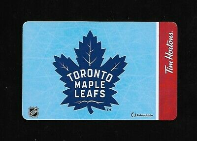 Tim Hortons Reloadable Quickpay Card - Toronto Maple Leafs 2019