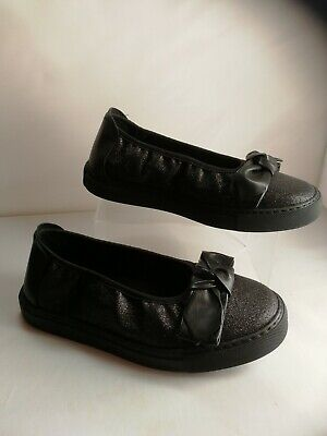 Ladies Cosyfeet Size 7 extra roomy Shoes Katie Black Summer Slip-on