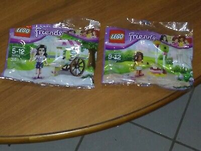 New Lego Friends Lot Of 2 Polybags Emma 30106 & Andrea 30107