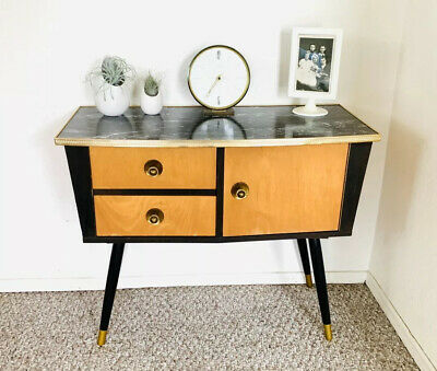 Mid Century Credenza Chest Of Drawers Vintage Side End Table Original Sideboard