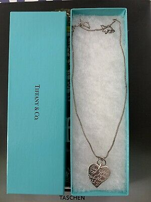 tiffany and co sterling silver heart tag pendant necklace authentic