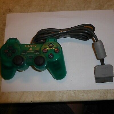 Sony DualShock 1 Analog Controller - PS1 SCPH-110 Green PS1/PS2 Working Tested