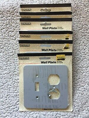 Wall Plate / Combo Switch & Outlet InterDesign Thick Plastic Grey Qty 6