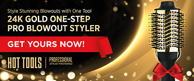 HOT TOOLS One-Step Pro Blowout Styler *NEW* 24K GOLD, Pro Stylist Preferred