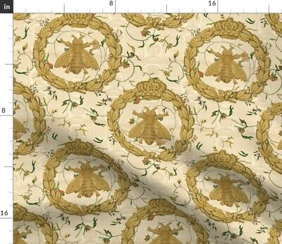 Royal Bees French Bee Antique Floral Flower Fabric Printed by Spoonflower BTY