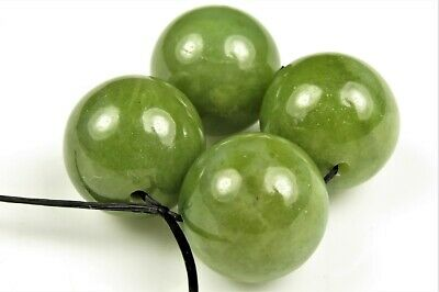 Jade-Like Bowenite Noble Serpentine Large Round Bead - 14mm ~ 4 beads ~ 7893A