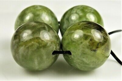 Jade-Like Bowenite Noble Serpentine Large Bead - close to 14mm ~ 4 beads ~ 7898A