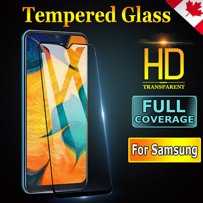 For Samsung Galaxy A70 A50 A30 A20 A10e Full Tempered Glass Gel Screen Protector