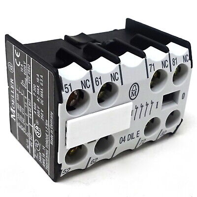 Auxiliary Contact Block 04DILE Moeller 4NC 04-DILE