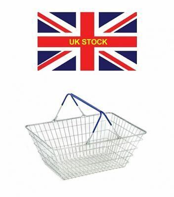 2 Handle Wire Shopping Basket Retail Supermarket - just £6.50 each FREE SHIPPING