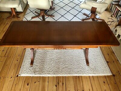 ANTIQUE STYLE Reproduction LARGE SOLID WOODEN EXTENDABLE COFFEE TABLE Chestnut