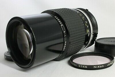 Excellent- Nikon Ai NIKKOR 200mm f4 Manual Lens with Filter from Japan