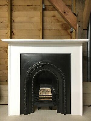 Genuine Victorian Cast Iron Fireplace & Hand Made Timber Fire Surround