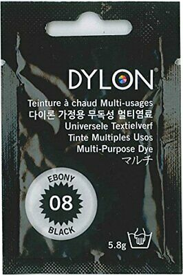 DYLON multi for clothing and textile dye 5.8g col.08 ebony black Japan regular a
