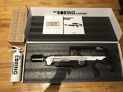 The Boring Company's ORIGINAL Not-A-Flamethrower Elon Musk W/ Fire Extinguisher