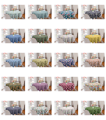 Ambesonne Floral Spring Round Tablecloth Table Cover for Dining Room Kitchen