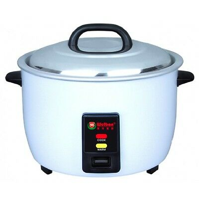 30cups (60Cups Cooked) NonStick White body durable Rice Cooker with ETL/NSF