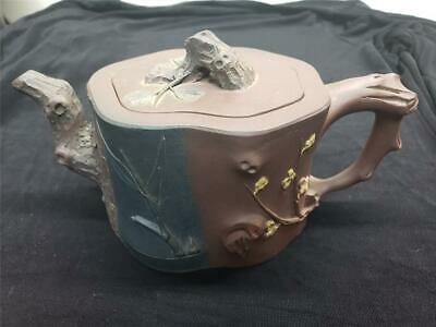Antique Qing Dynasty Yixing Clay Butterflies Teapot 18th to 19th Century