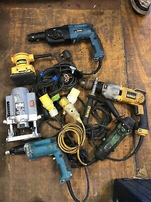 job lot of power tools, makita, dewalt, hitachi, 110v and 240v spares or repair