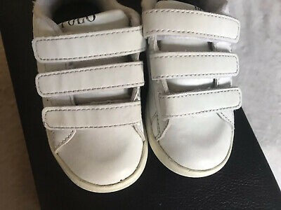 Childrens Kids Girls Boys Unisex Ralph Lauren Trainers White Size 23 Infant 6
