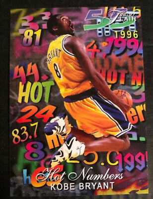 1996-97 Fleer Flair Style Hot Numbers Kobe Bryant Limited Edition To 8 RARE Mint