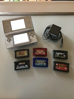 Nintendo DS Lite Launch Edition Silver With Games
