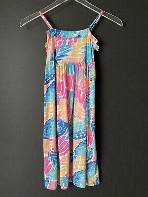 Lilly Pulitzer Colorful Floral Girls Maxi Dress S (4-5)