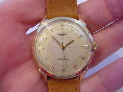1955 MENS LONGINES AUTOMATIC 10k GOLD FILLED DRESS WATCH No Reserve! NICE ONE!